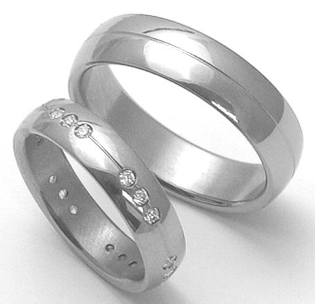 Snubní Titanové prsteny ZERO Collection ttn2602+ttn1901 (Snubní Titanové prsteny ZERO Collection ttn2602+ttn1901)