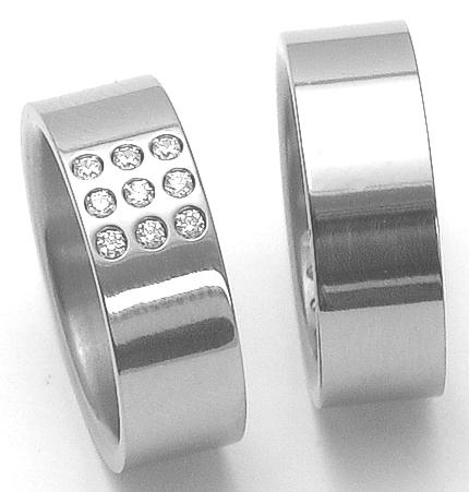 Snubní Titanové prsteny ZERO Collection ttn2702+ttn2801 (Snubní Titanové prsteny ZERO Collection ttn2702+ttn2801)