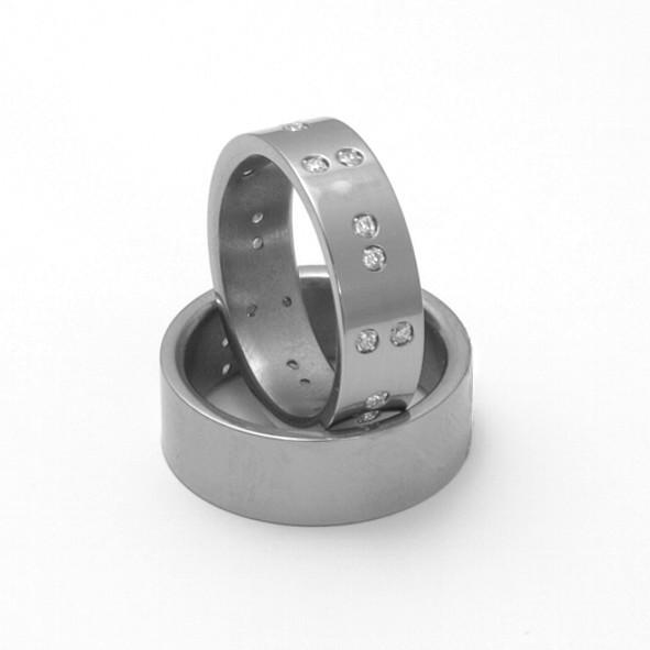 Snubní Titanové prsteny ZERO Collection TTN2902+TTN2801 (Snubní Titanové prsteny ZERO Collection TTN2902+TTN2801)