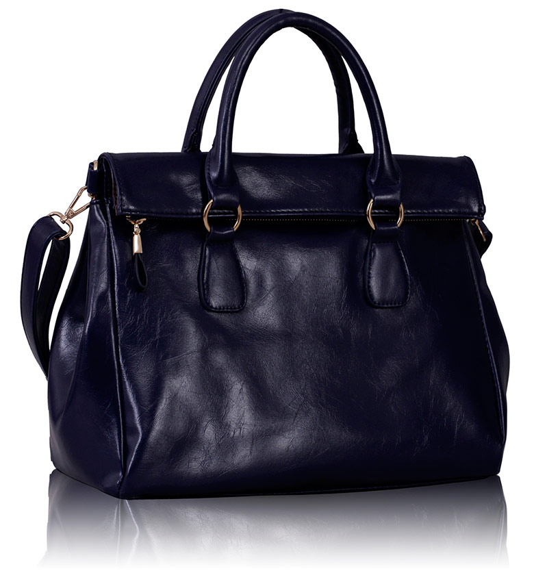 Kabelka LS00227 - Navy Grab Handle Handbag