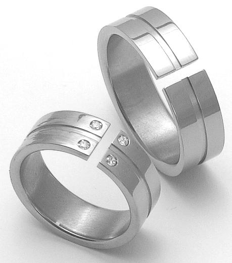 Snubní Titanové prsteny ZERO Collection ttn3501+ttn3502 (Snubní Titanové prsteny ZERO Collection ttn3501+ttn3502)