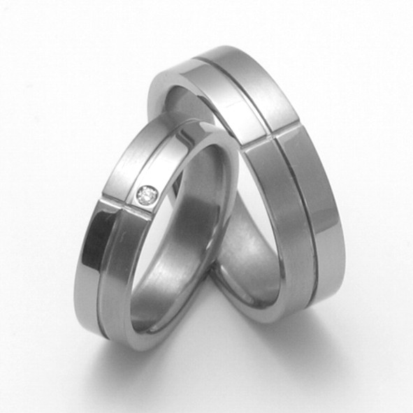 Snubní Titanové prsteny ZERO Collection TTN2101+TTN2102 (Snubní Titanové prsteny ZERO Collection TTN2101+TTN2102)