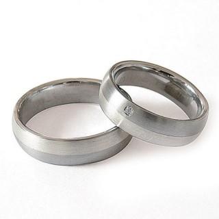 Snubní prsteny Ocel+Stříbro ZAG16300-+-ZAG16302 (Snubní prsteny Ocel+Stříbro ZAG16300-+-ZAG16302)