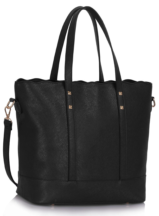 Kabelka LS00361 - Black Women's Large Tote Bag