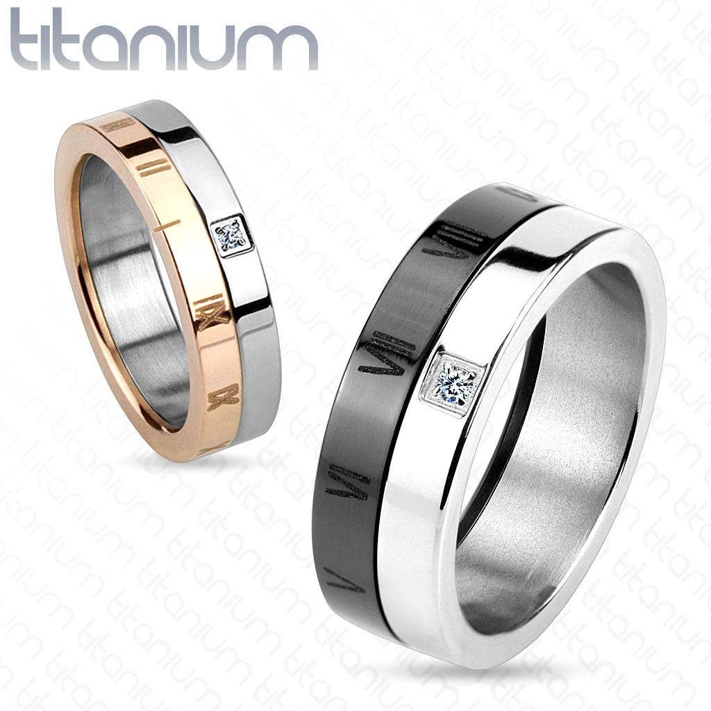Snubní prsteny z titanu R-TM-3843