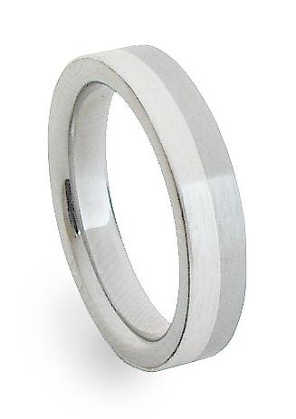 Ocelový prsten se stříbrem ZAG04300 (Ocelový prsten se stříbrem ZAG04300)