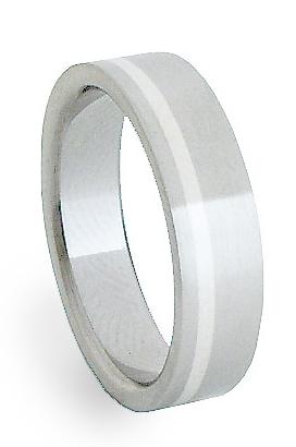 Ocelový prsten se stříbrem ZAG05200 (Ocelový prsten se stříbrem ZAG05200)