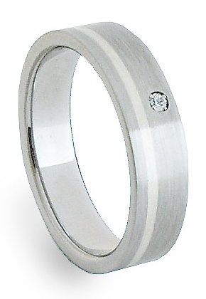 Ocelový prsten se stříbrem ZAG05202 (Ocelový prsten se stříbrem ZAG05202)