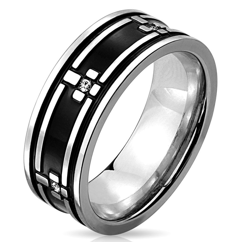 Prsten z chirurgické oceli R-M3983 (Dárkové balení zdarma)