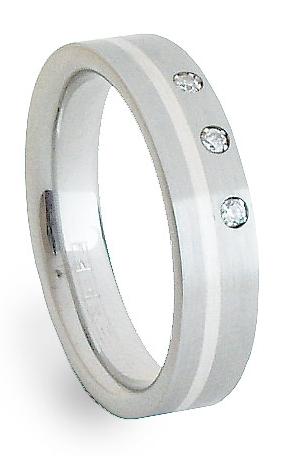 Ocelový prsten se stříbrem ZAG05250 (Ocelový prsten se stříbrem ZAG05250)