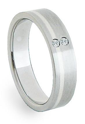 Ocelový prsten se stříbrem ZAG05252 (Ocelový prsten se stříbrem ZAG05252)