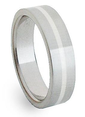 Ocelový prsten se stříbrem ZAG05400 (Ocelový prsten se stříbrem ZAG05400)