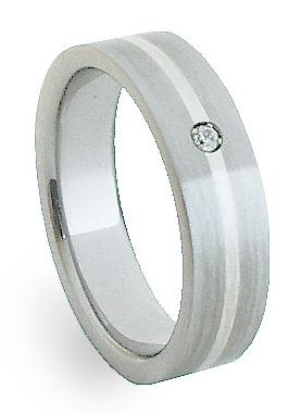 Ocelový prsten se stříbrem ZAG05401 (Ocelový prsten se stříbrem ZAG05401)
