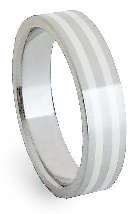 Ocelový prsten se stříbrem ZAG05800 (Ocelový prsten se stříbrem ZAG05800)