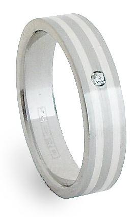 Ocelový prsten se stříbrem ZAG05801 (Ocelový prsten se stříbrem ZAG05801)