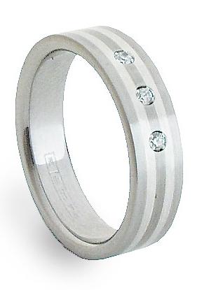 Ocelový prsten se stříbrem ZAG05850 (Ocelový prsten se stříbrem ZAG05850)