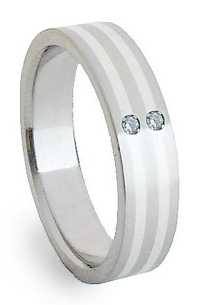 Ocelový prsten se stříbrem ZAG05852 (Ocelový prsten se stříbrem ZAG05852)