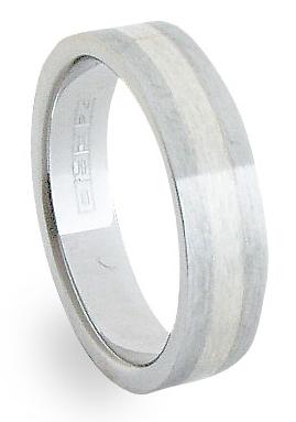 Ocelový prsten se stříbrem ZAG06100 (Ocelový prsten se stříbrem ZAG06100)