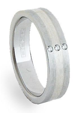 Ocelový prsten se stříbrem ZAG06153 (Ocelový prsten se stříbrem ZAG06153)