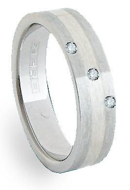 Ocelový prsten se stříbrem ZAG06156 (Ocelový prsten se stříbrem ZAG06156)