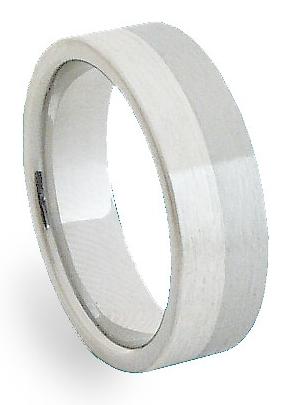 Ocelový prsten se stříbrem ZAG06300 (Ocelový prsten se stříbrem ZAG06300)