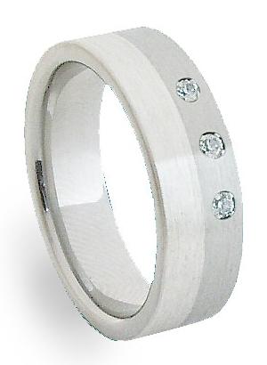 Ocelový prsten se stříbrem ZAG06350 (Ocelový prsten se stříbrem ZAG06350)