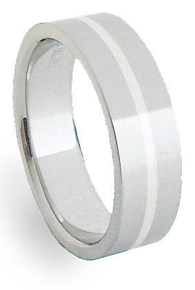 Ocelový prsten se stříbrem ZAG06400 (Ocelový prsten se stříbrem ZAG06400)