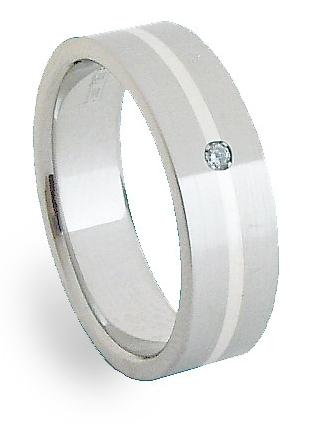 Ocelový prsten se stříbrem ZAG06401 (Ocelový prsten se stříbrem ZAG06401)