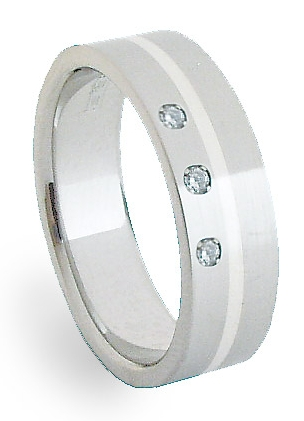 Ocelový prsten se stříbrem ZAG06450 (Ocelový prsten se stříbrem ZAG06450)