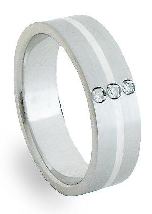 Ocelový prsten se stříbrem ZAG06453 (Ocelový prsten se stříbrem ZAG06453)