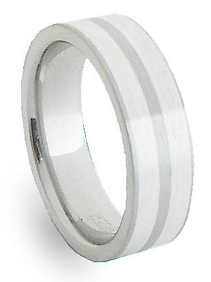 Ocelový prsten se stříbrem ZAG06600 (Ocelový prsten se stříbrem ZAG06600)