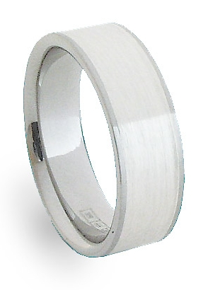 Ocelový prsten se stříbrem ZAG06700 (Ocelový prsten se stříbrem ZAG06700)