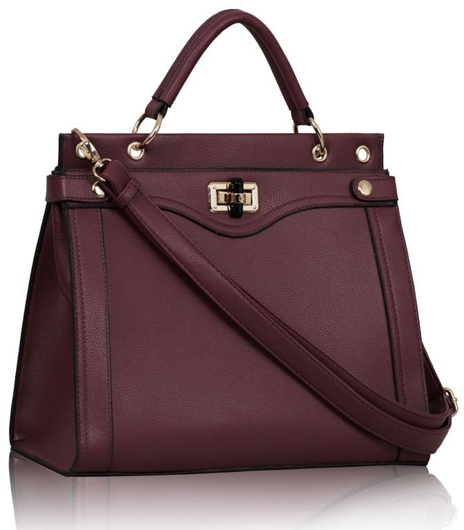 Kabelka LS0056 - Purple Fashion Tote Handbag