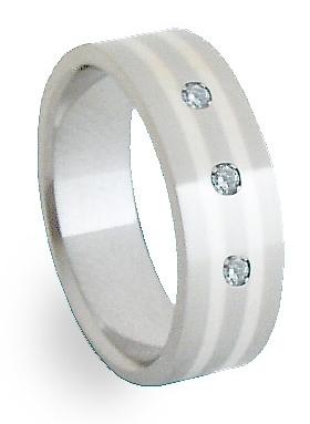 Snubní Ocelový prsten se stříbrem ZAG06850 (Snubní Ocelový prsten se stříbrem ZAG06850)