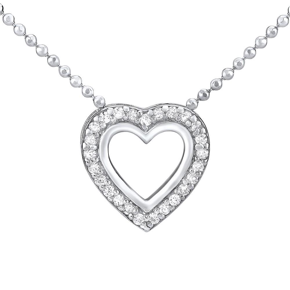 14939be35 Stříbrný náhrdelník SRDCE Stříbrný náhrdelník SRDCE