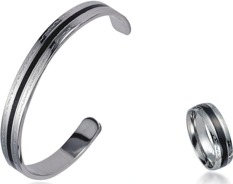 Sada náramek + prsten chirurgická ocel BSGBL01,RSSLB19