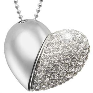 Šperky USB flash 16 GB - Velké srdce (Šperky USB flash 16 GB - Velké srdce)