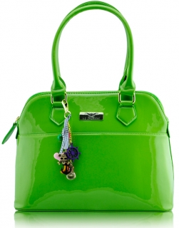 Kabelka  LS6001 - Green Patent Tote Fashion Handbag