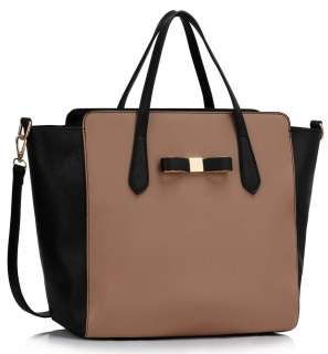 Kabelka LS00402 - Black / Nude Women's Large Tote Bag
