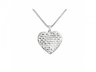 cdae10b98 Stříbrný náhrdelník přívěškem ve tvaru srdce VAL 2019-8