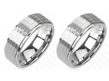 Wolframové snubní prsteny R-TU-010