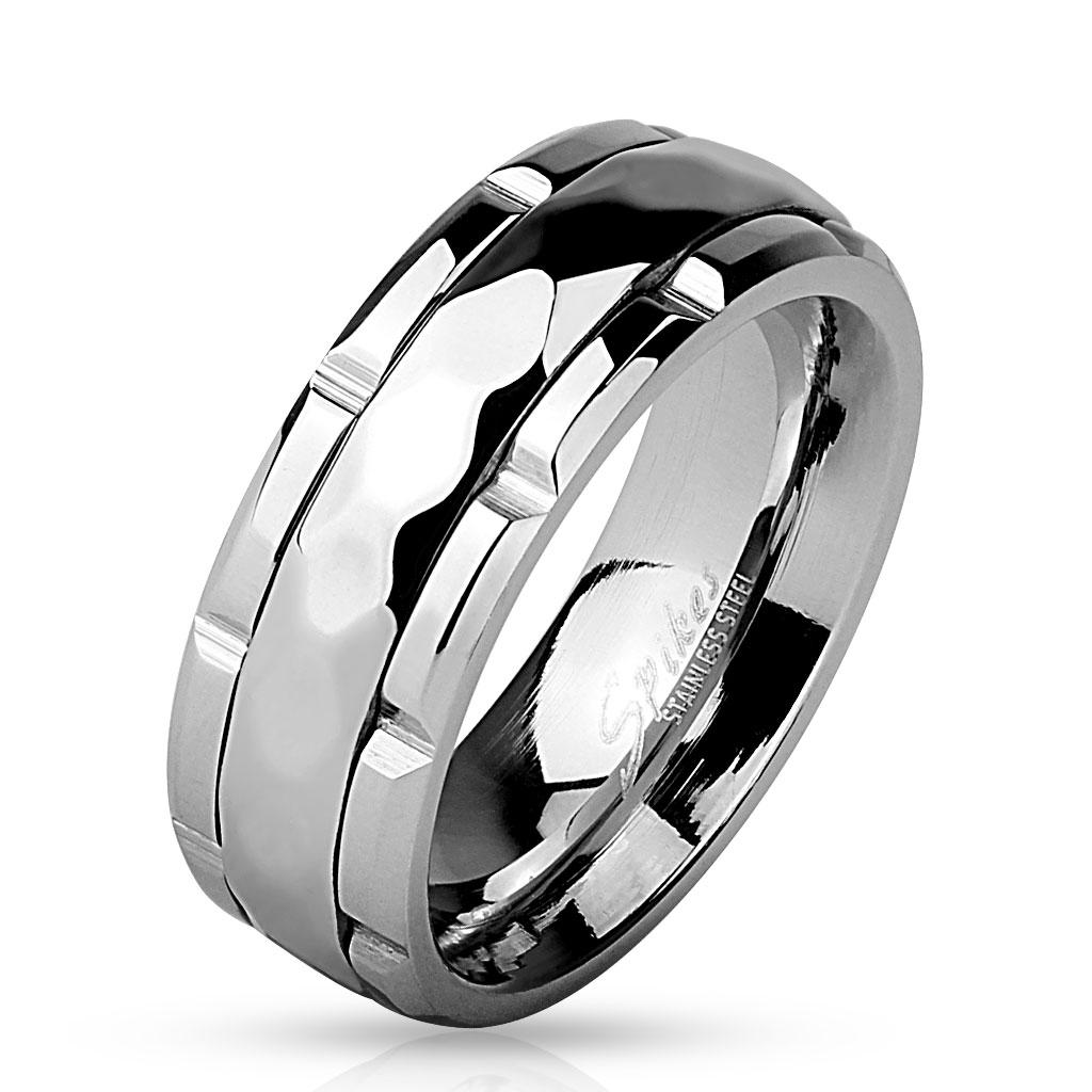 Prsten z chirurgické oceli R-M4532