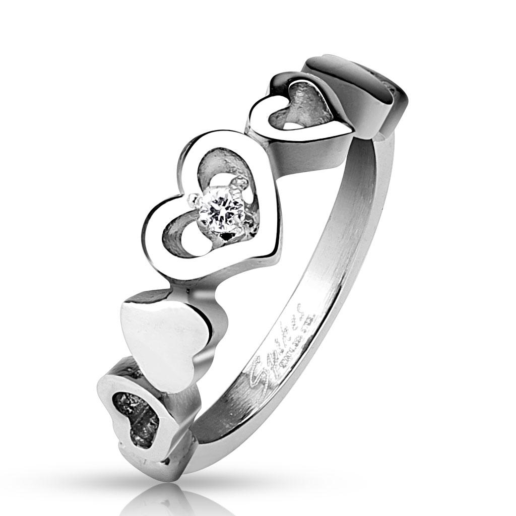 Prsten z chirurgické oceli R-M4516