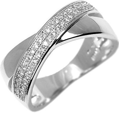 Zářivý stříbrný prsten LÉONCE - JJJR0030