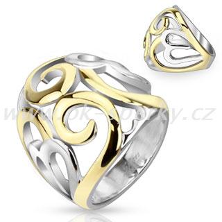 Prsten z chirurgické oceli R-D4599