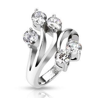 Prsten z chirurgické oceli R-M2529