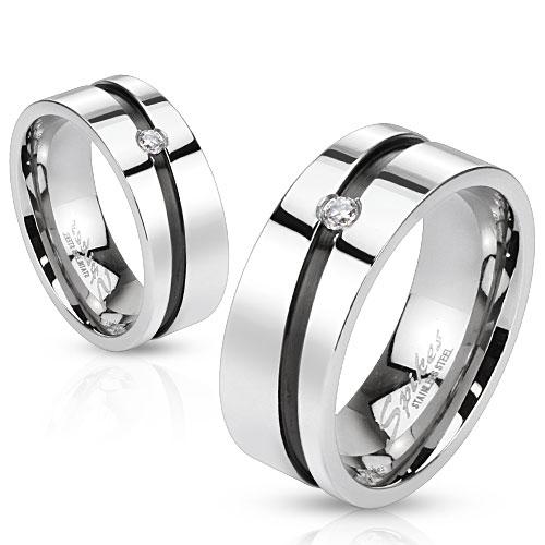 Snubní prsteny z chirurgické ocel R-H1012