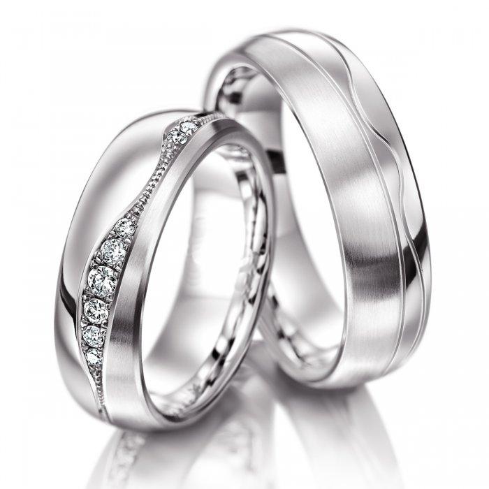 Luxusní snubní prsteny z chirurgické oceli OC1044