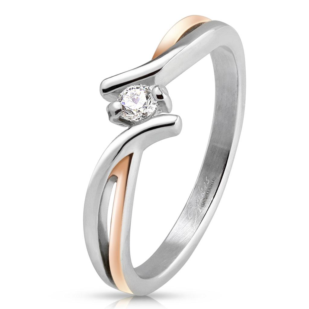 Prsten z chirurgické oceli R-M4223